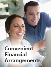 Learn About Our Convenient Financial Arrangments.